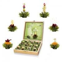Krásna darčeková krabička kvitnúcich čajov - zelený čaj