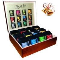 Exkluzívna drevená darčeková kazeta 120ks čajov