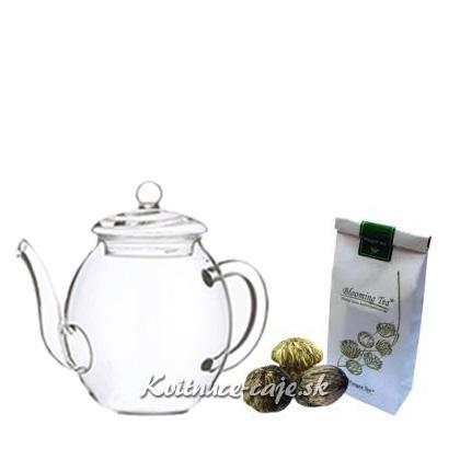 Konvička + Sáčok 3ks kvitnúcich čajov